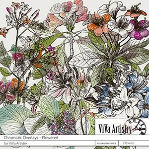 Chromatic Overlays: Flowered