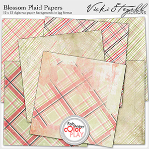 Blossom Plaid Papers