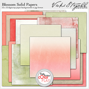 Blossom Solid Papers
