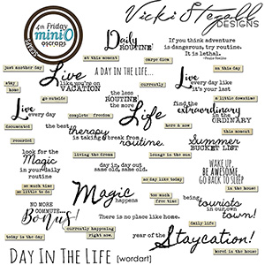 Day In The Life - Wordart