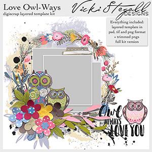 Love Owl Ways Template Kit