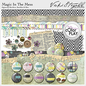 Magic in the Mess Borders Baubles and Bits