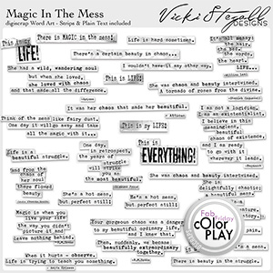 Magic in the Mess WordArt