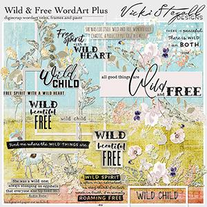Wild and Free Word Art