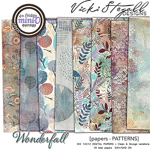 WonderFall Patterned Papers