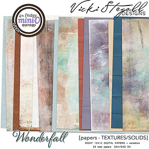WonderFall Textured and Solid Papers