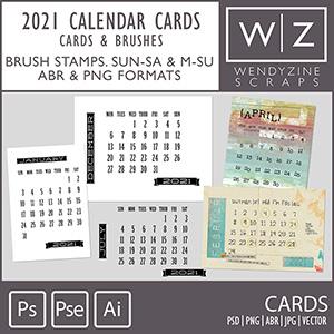TEMPLATES: 2021 Calendar Cards