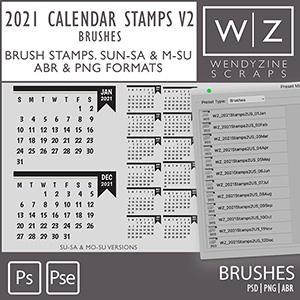 BRUSHES: 2021 Calendar Stamps v2