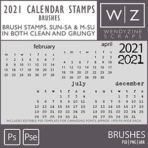 TEMPLATES: 2021 Calendar Stamps v1