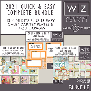 2021 Quick & Easy Calendars {Complete Bundle}