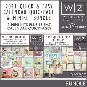 2021 Quick & Easy Calendars {Quickpages & Mini Kit Bundle}