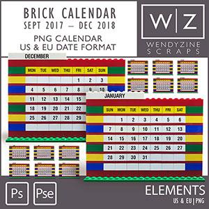 Brick Calendars 2018