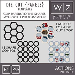 TEMPLATES: Die Cut Panels