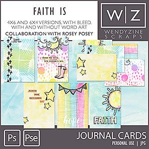Faith Is {Journal Cards}