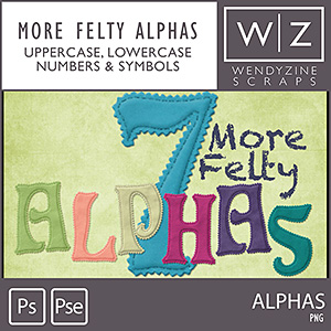 7 More Felty Alphas Collection