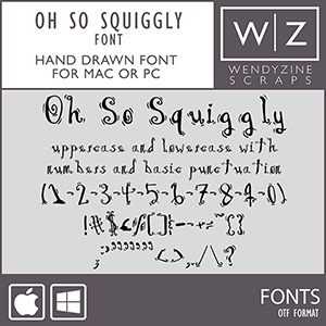 FONT: Oh So Squiggly