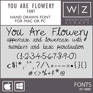 FONT: You Are Flowery