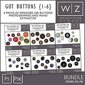 BUNDLE: Got Buttons {1-6}