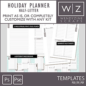 TEMPLATES: Holiday Planner Printables {Half-Letter}