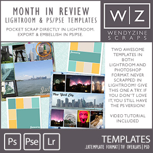 TEMPLATE: Month In Review (Lightroom & PS)