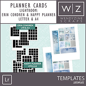 TEMPLATES: Lightroom Planner Templates