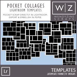TEMPLATES: Lightroom Pocket Collages