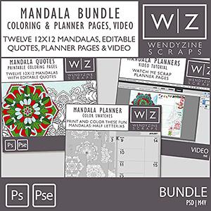 BUNDLE: Mandala Planner, Color Pages & Video