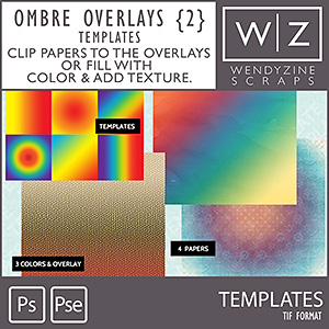 TEMPLATES: Ombre Overlays {2}