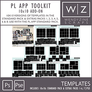 TEMPLATES: Project Life App 10x10 Add On