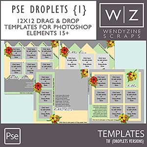 TEMPLATES: Droplets Set 1 PSE15/2018
