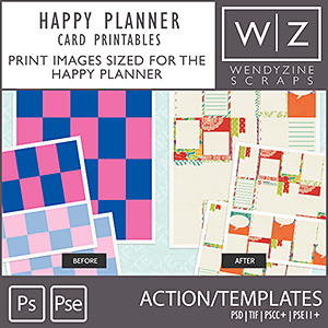 TEMPLATES: Happy Planner Cards w/ Filler Action