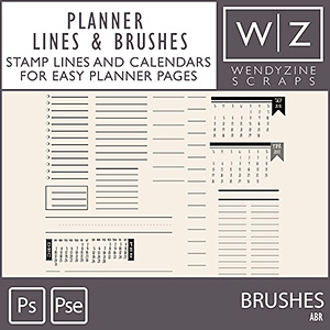 BRUSHES: Planner Lines & Calendars {2018}