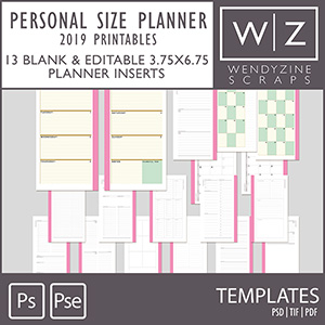 TEMPLATES: 2020 Planner Inserts {Personal Size)