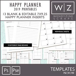 TEMPLATES: 2019 Planner Printables {Happy Planner)
