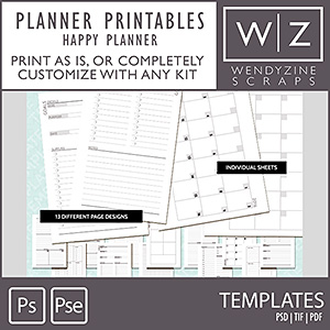 TEMPLATES: Planner Printables {Happy Planner)