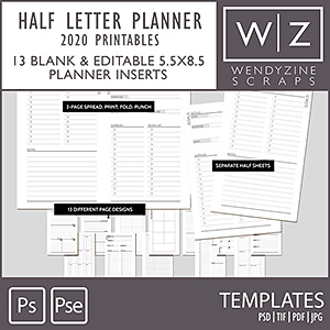 TEMPLATES: 2020 Planner Printables {Half-Letter}