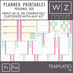 TEMPLATES: Planner Inserts {Personal Size)