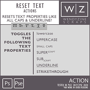 ACTION: Reset Text