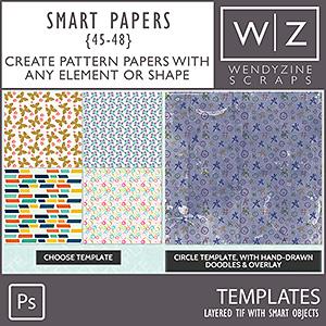 TEMPLATES: Smart Papers {45-48} PSCS/CC