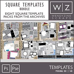BUNDLE: Square Templates