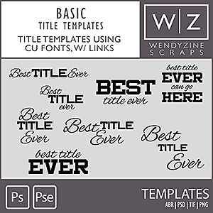 TITLE TEMPLATES: Basics