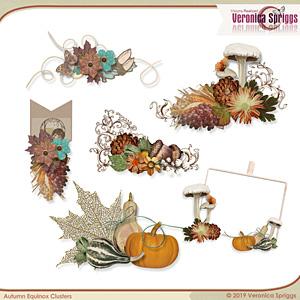 Autumnal Equinox Embellishments Mini Clusters