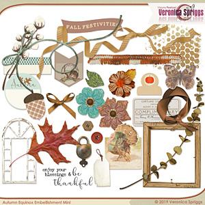 Autumnal Equinox Embellishment Mini