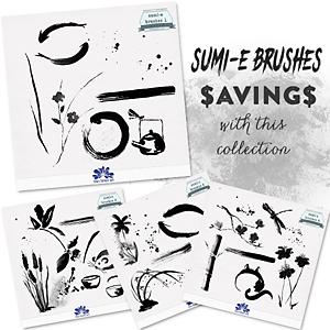 CU/PU sumi-e Brushes Collection