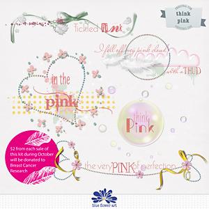 Think Pink Wordart