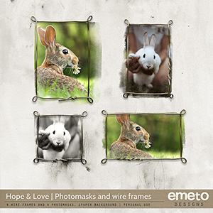 Hope and Love Photomasks and Frames