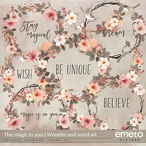 The magic in you - Wreaths and word art