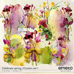 Celebrate spring - clusters set 1