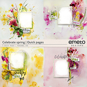 Celebrate spring - quick pages
