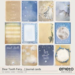 Dear Tooth Fairy...Journal cards